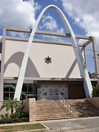 Synagogue and Jewish Community Centre, Vedado, Havana, Cuba, West Indies, Central America-John Harden-Photographic Print