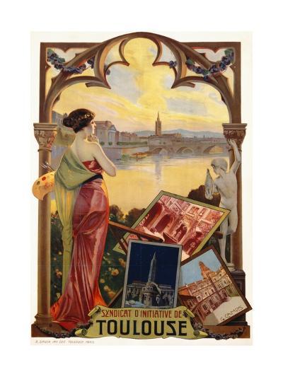 Syndicat D'Initiative De Toulouse Poster--Giclee Print
