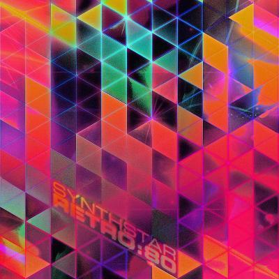 Synthstar Retro80-Spires-Art Print