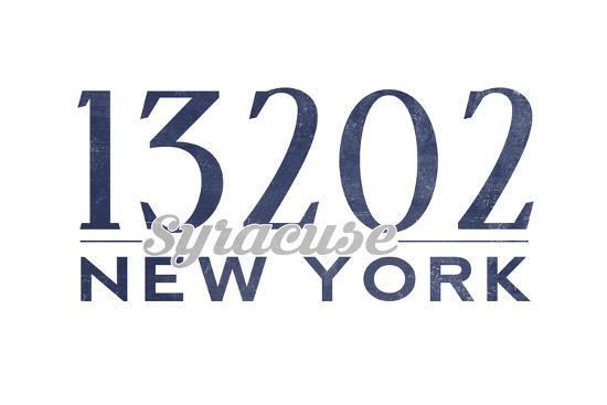 Syracuse, New York - 13202 Zip Code (Blue)-Lantern Press-Art Print