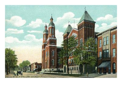 Syracuse, New York - Church of the Assumption Exterior View-Lantern Press-Art Print