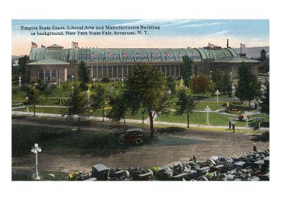 Syracuse, New York - NY State Fair, Empire State Court View-Lantern Press-Art Print