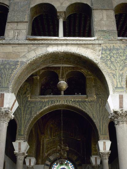 Syria  Damascus  Umayyad Mosque or Great Mosque of Damascus  Built in the  Early 8th Century  Courty Photographic Print by | Art com