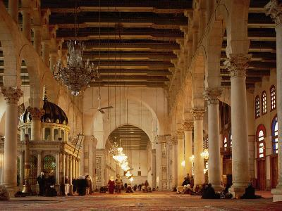 Syria, Great Mosque of Damascus, Interior--Photographic Print