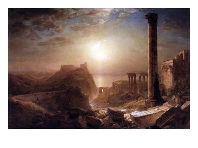 Syria on the Sea-Frederic Edwin Church-Art Print