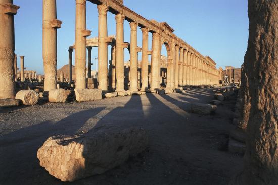 Syria, Palmyra, Colonnaded Street, the Decumanus-Steve Roxbury-Photographic Print