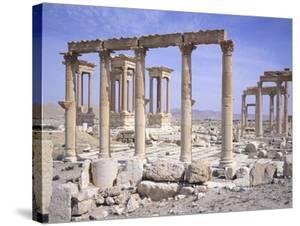 Syria, Palmyra, Tetrapylon and Cesareum