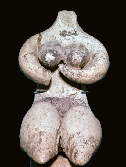 Syrian baked clay fertility figure, 5th century BC. Artist: Unknown-Unknown-Giclee Print