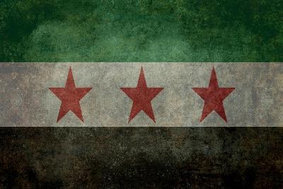 Syrian Interim Government And Syrian National Coalition'S National Flag-Bruce stanfield-Art Print