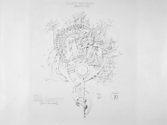 System of Architectural Ornament: Plate 10, Fluent Parallelism (Non-Euclidean), 1922-23-Louis Sullivan-Giclee Print