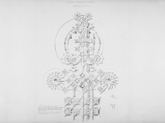 System of Architectural Ornament: Plate 11, Values of Parallel Planes (Parallelism), 1922-23-Louis Sullivan-Giclee Print