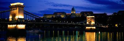 Szechenyi Bridge Royal Palace Budapest Hungary--Photographic Print