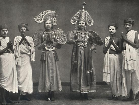 'Szene aus Shakuntalavilasa, dem Spiel von Shakuntala', 1926-Unknown-Photographic Print
