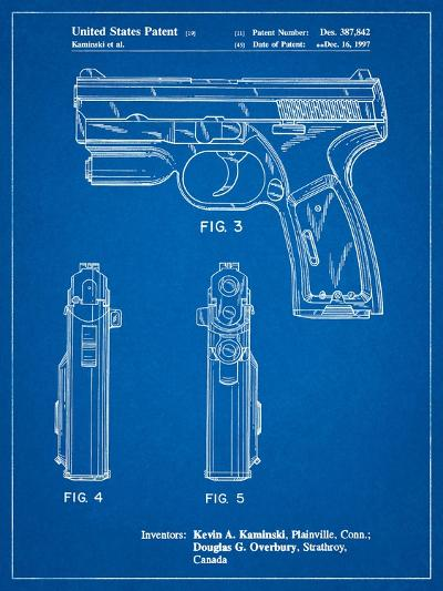 T 1000 Laser Pistol Patent-Cole Borders-Art Print