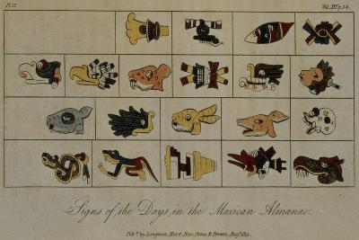 T.1602 Signs of the Days in the Mexican Almanac, from Vol II of 'Researches Concerning the…-Friedrich Alexander, Baron Von Humboldt-Giclee Print