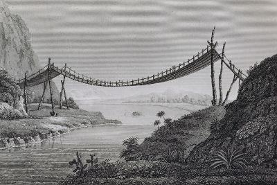 T.1603 Bridge of Ropes, Near Penipe, from Vol II of 'Researches Concerning the Institutions and…-Friedrich Alexander, Baron Von Humboldt-Giclee Print