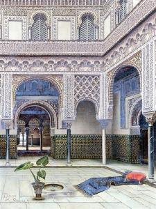 Interior of a Palace, Seville by T. Aceves