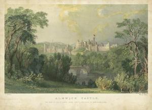 Alnwick Castle by T^ Allom