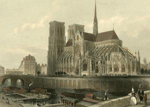 Cathedral of Notre-Dame, Paris by T. Allom
