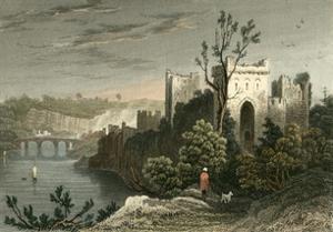 Chepstow Castle by T. Allom