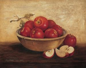 Apples In Wood Bowl by T^ C^ Chiu