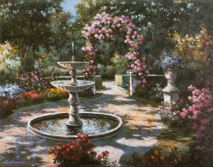 Garden Fountain by T^ C^ Chiu