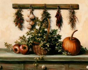 Hanging Dried Herbs by T^ C^ Chiu