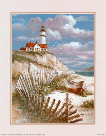Lighthouse with Deserted Canoe