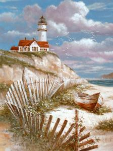 Lighthouse with Deserted Canoe by T^ C^ Chiu