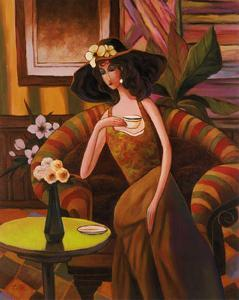 Tea Time, Right Panel by T. C. Chiu