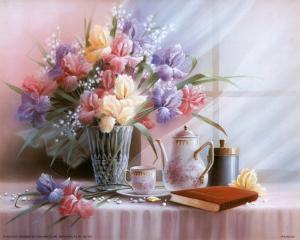 Teapot and Iris by T^ C^ Chiu