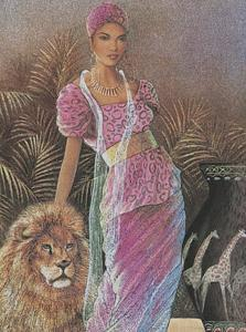 Woman with Lion by T^ C^ Chiu