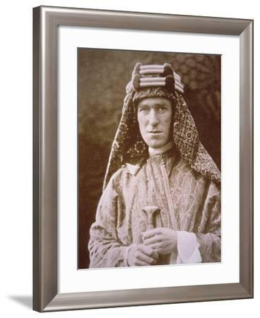 T.E. Lawrence in Arab Costume During Wwi, C.1914-18--Framed Photographic Print