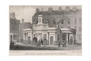 England, Bath, Cross Bath by T.H. Shepherd