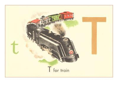 T is for Train--Art Print