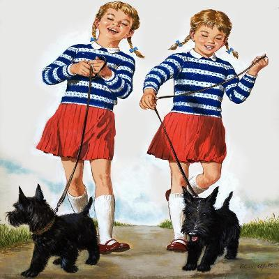 T Is for Twin, Illustration from 'Treasure'-Clive Uptton-Giclee Print