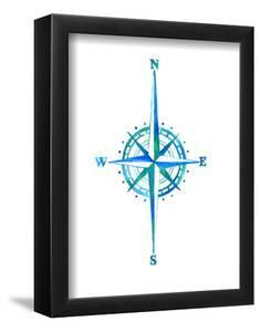 Compass Rose Watercolor by T.J. Heiser
