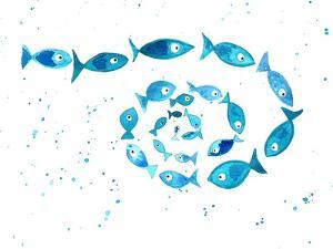 Fish Cluster Circle by T.J. Heiser
