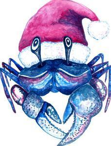 Santa Crab by T.J. Heiser