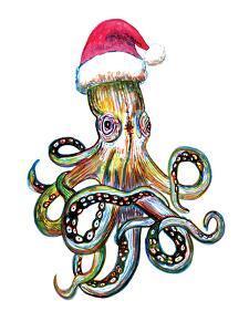 Santa Octopus by T.J. Heiser