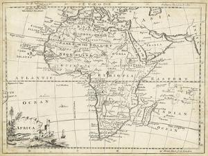 Map of Africa by T^ Jeffreys