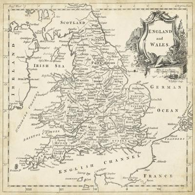 Map of England and Wales by T. Jeffreys
