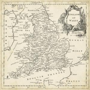 Map of England & Wales by T. Jeffreys