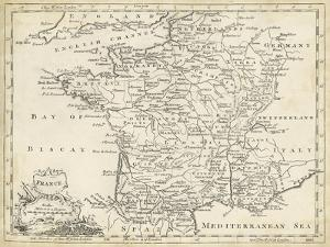 Map of France by T^ Jeffreys