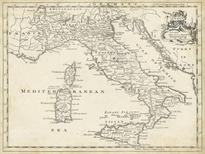 Map of Italy by T^ Jeffreys