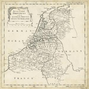 Map of Netherlands by T^ Jeffreys