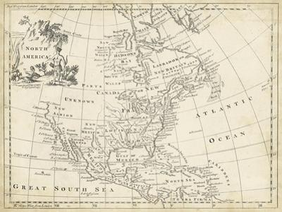 Map of North America by T^ Jeffreys