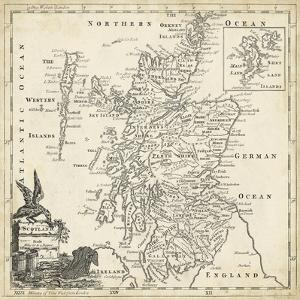 Map of Scotland by T^ Jeffreys