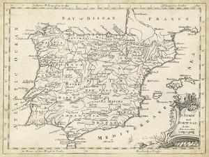 Map of Spain by T^ Jeffreys