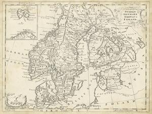 Map of Sweden & Denmark by T^ Jeffreys